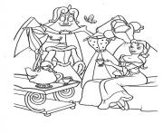 Printable belle having little party disney princess f54c coloring pages