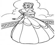 Printable belle on balcony disney princess 9a76 coloring pages