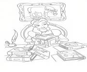 belle reading books disney princess 4286 coloring pages