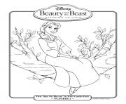 Printable belle in diamond edition disney princess 5383 coloring pages