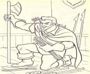 gaston ready to attack disney princess 4d7a coloring pages