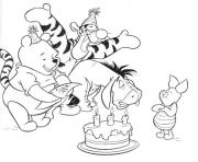 Printable winnie the pooh happy birthday  disney9dbd coloring pages