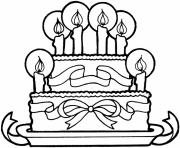 Printable ribbon and cake happy birthday s free9a6d coloring pages