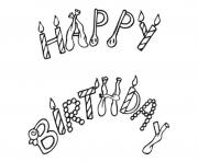 Printable free printable happy birthday f3b4 coloring pages