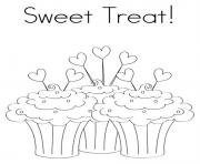 Printable sweet treat birthday s for kidse637 coloring pages