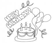 Printable cake happy birthday s freea77a coloring pages