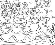 Printable disney ariel happy birthday  free6115 coloring pages