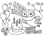 Printable happy birthday  gigle hoot hoot09bc coloring pages