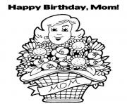 Printable happy birthday mommy s72f8 coloring pages