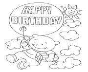 Printable happy birthday  freeb3df coloring pages