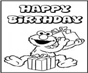 Printable happy birthday s elmo575c coloring pages