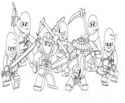 Print characters of ninjago secc8 coloring pages