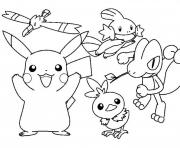 Printable pokemon cartoon pikachu sdd34 coloring pages