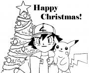 Printable pokemon cartoon free s for christmasc05a coloring pages