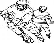 Printable playing hockey s5eaf coloring pages