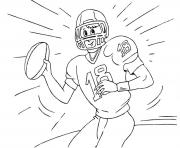 Printable free american football s9a9b coloring pages