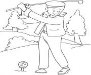 Printable playing golf sports s5619 coloring pages