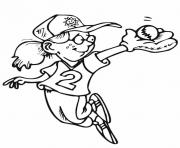 softball girl coloring page e1449387408810cafb coloring pages