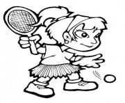 Printable girl playing tennis s66d0 coloring pages