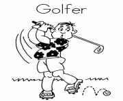 Printable golfer sports se016 coloring pages