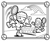 Printable kids playing tennis s02b3 coloring pages