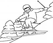 Printable sport in the winter s6b7a coloring pages