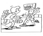 Printable playing basketball scd17 coloring pages