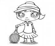Printable tennis s girle57b coloring pages