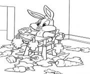 Print eating carrots baby looney tunes s free70fc coloring pages