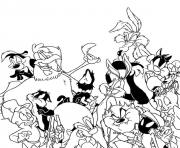 Print looney tunes cartoon sfd4f coloring pages