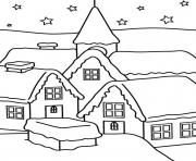 Print house of winter s for kids2411 coloring pages