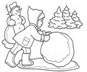Printable making snowball winter s for kids4ec1 coloring pages