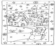 Print free winter s snowy houses5e56 coloring pages