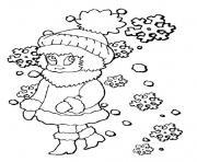 Print girl winter sc74d coloring pages