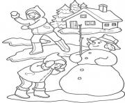 Print winter snowfighte276 coloring pages