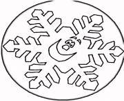 Print winter snowflake5323 coloring pages