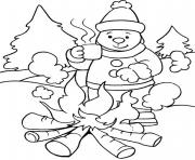 Printable warming with fire in winter sfbbd coloring pages