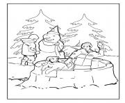 Print fun snow winter s4023 coloring pages