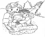 Print winter fun kids5ed0 coloring pages