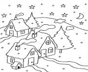 Printable winter night9a98 coloring pages