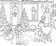 Print winter family65f6 coloring pages