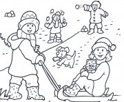 Print winter  happiness8b8d coloring pages