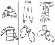 Print a must stuff winter clothes s42a2 coloring pages