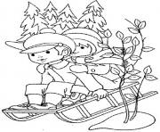 Printable kids s winter sleddingfe5c coloring pages