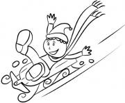Print winter sledding20ae coloring pages