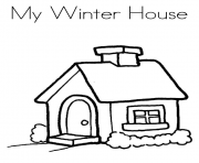 Print my winter house s printables6603 coloring pages
