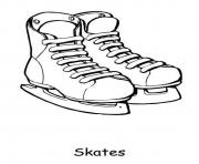 Print skates for winter sfd90 coloring pages