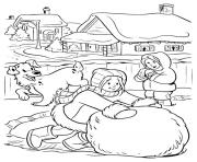 Print big snowball winter s for girls04cd coloring pages