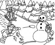 Printable winter s printable outdoor fun8231 coloring pages