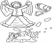 Print fun in the snow winter s661b coloring pages